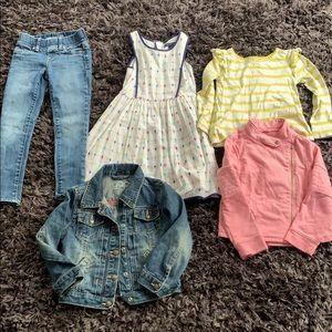 Girls 5T clothing lot gap, Tommy Hilfiger